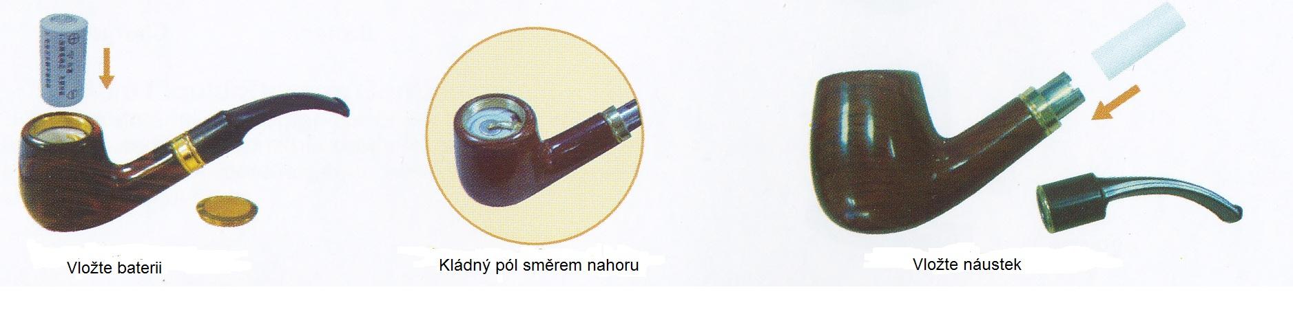 postup pri zložení elektronickej fajky Pipe 601
