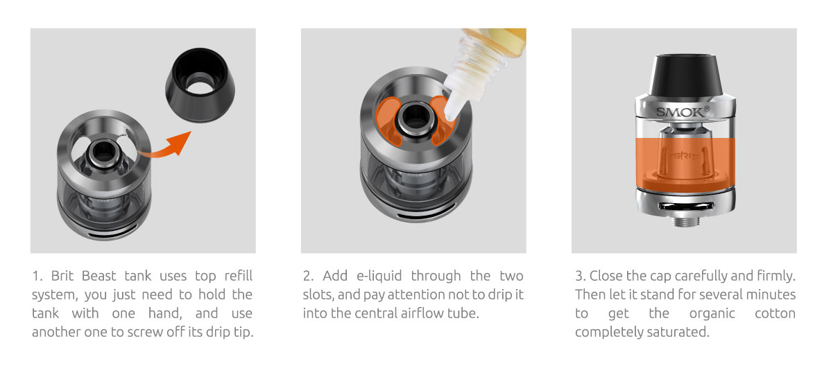 ako sa plní e-liquid do clearomizera