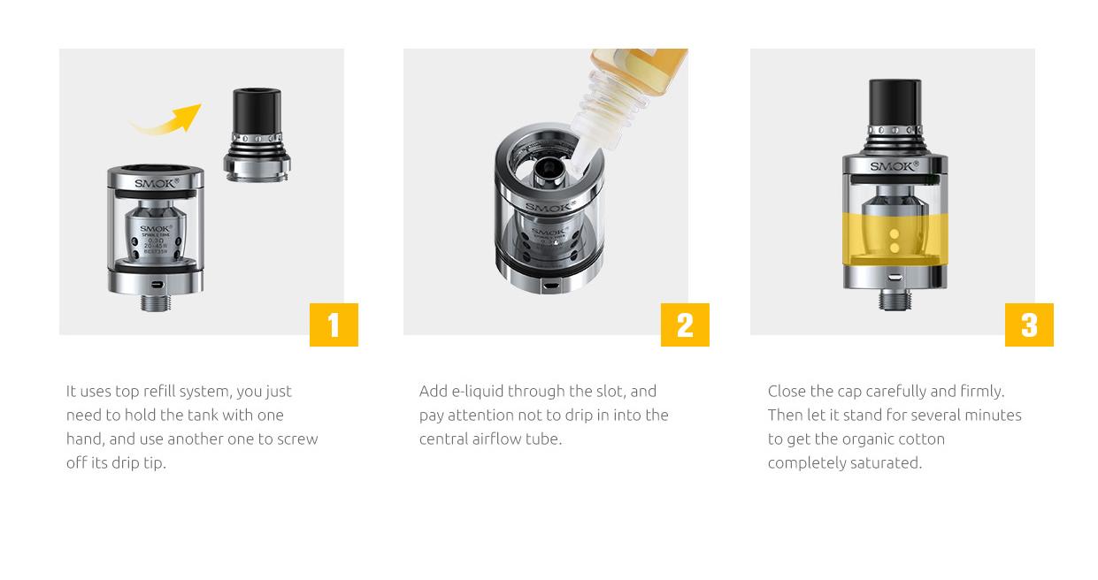 postup pri plnení e-liquidu