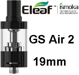 iSmoka - Eleaf clearomizérGS Air2 19 mm 2,5 ml 0,75 ohm - čierny